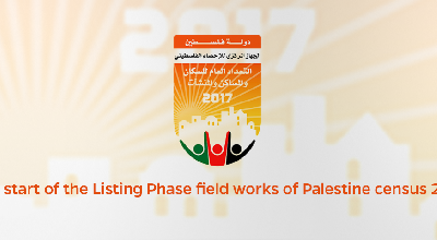 The start of the Listing Phase field works of Palestine census 2017